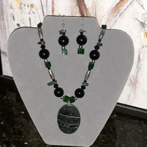 Handmade semiprecious jewlery set